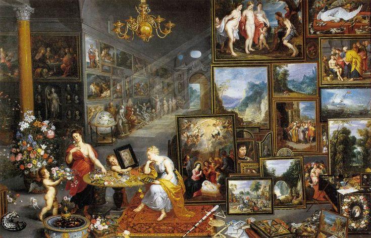 BRUEGHEL L'ANCIEN - L'Allégorie de la vue et de l'odorat - 1618 - Prado