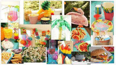 Confetti Luau party