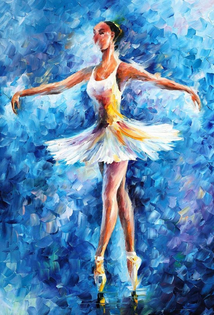 artistic dancers on canvas | BRAVO — Artistic Signed Print on Cotton Canvas By Leonid Afremov