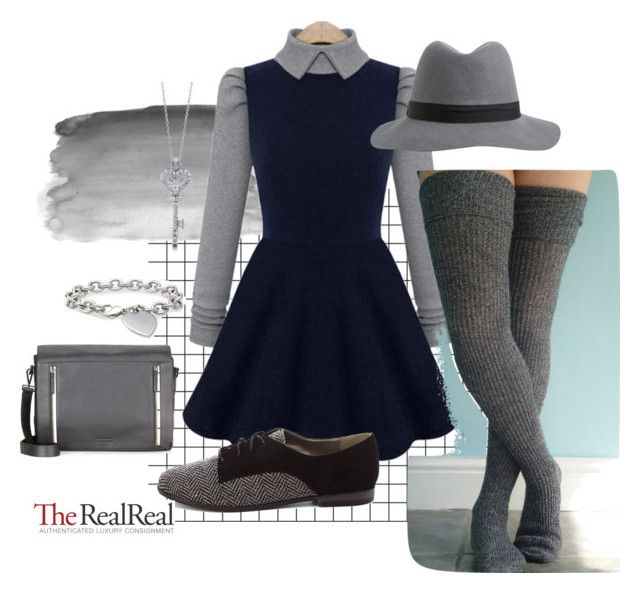"""Private school uniform"" by bunnywabit ❤ liked on Polyvore featuring Charlotte Russe, Rebecca Minkoff, Blue Nile and BERRICLE"
