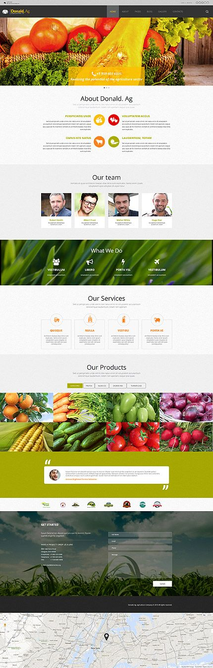 Agriculture Company Website #Joomla #template. #themes #business #responsive #Joomlathemes