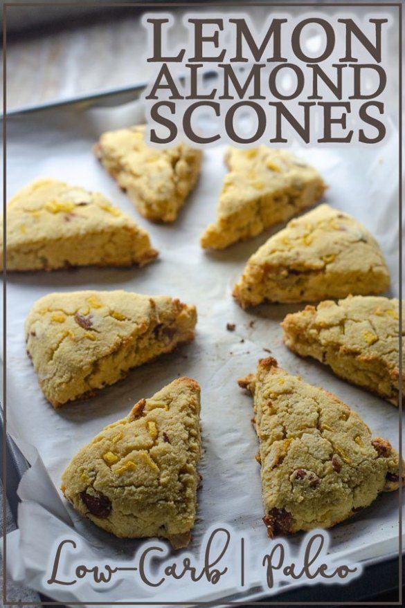 Jul 11, 2020 – These lemon almond scones make a delicious breakfast baked good! Paleo, low-carb, keto, gluten-free, grai…