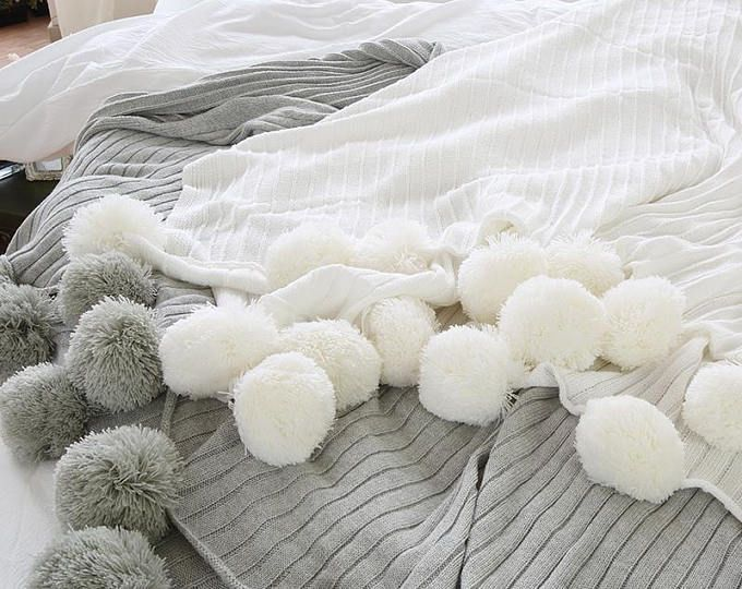 Crochet Pom Pom Blanket Pattern Com Imagens