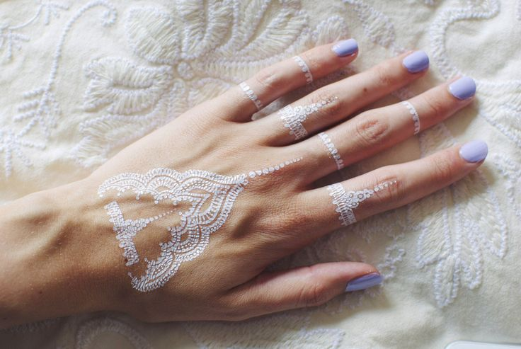 White henna flash tattoos - 4 styles available   by Silah