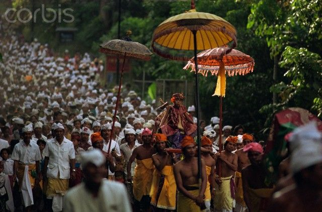 Hindu procession, Bali, Indonesia, Southeast Asia, Asia