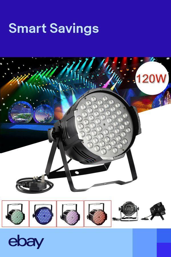 120W LED Light Par 54 DMX RGB Stage Show lighting DJ Disco Club Party + Plug – #…