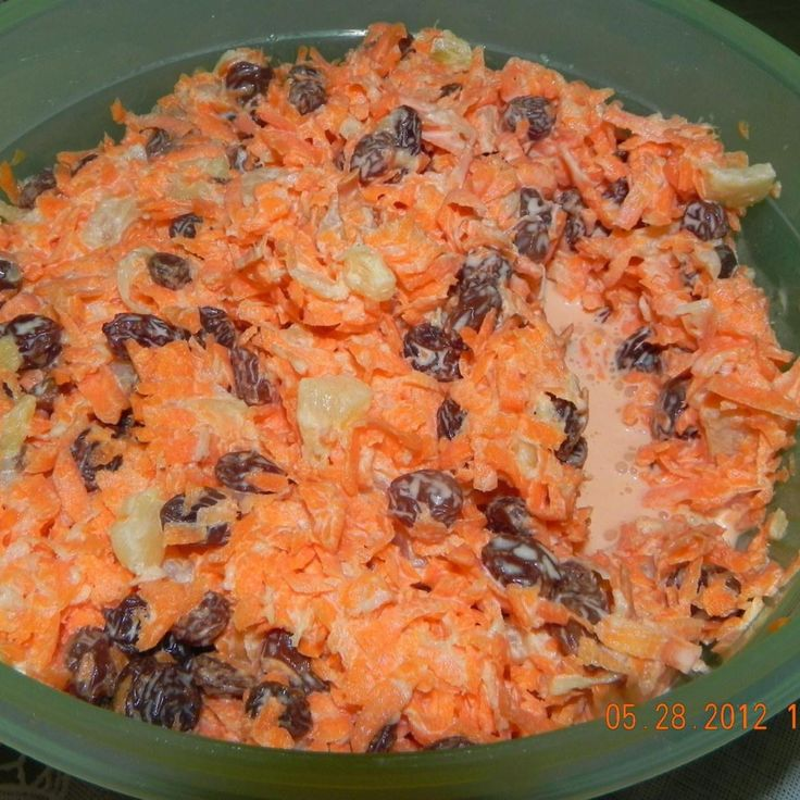 Chick Fil A  Carrot & Rasin Salad This is by far the best carrot salad I have ever had. It is a wonderful chewy and just the perfect sweet carrot salad.  I searched for this recipe that is a copykat to Chick-Fil-A's.
