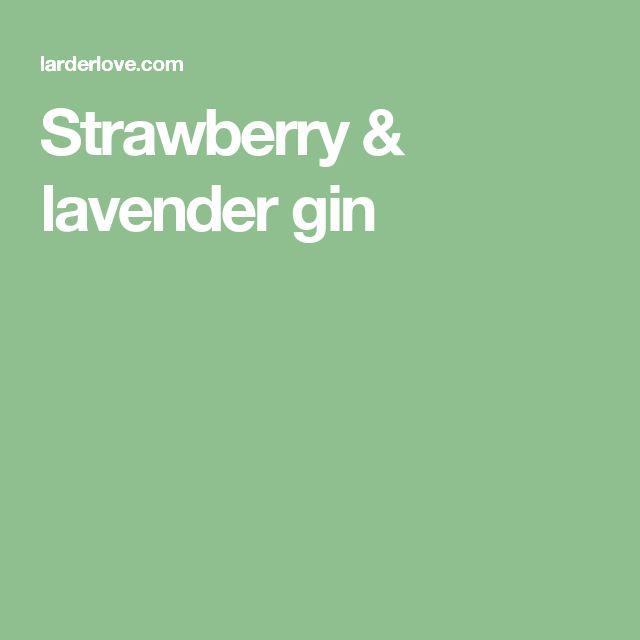 Strawberry & lavender gin