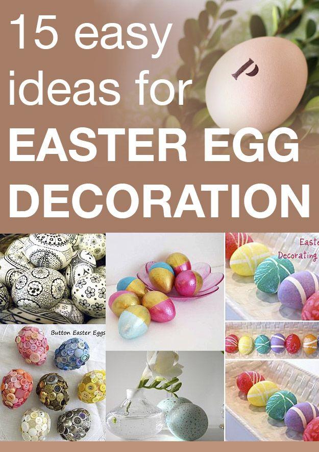 15 easy ideas for Easter egg decoration