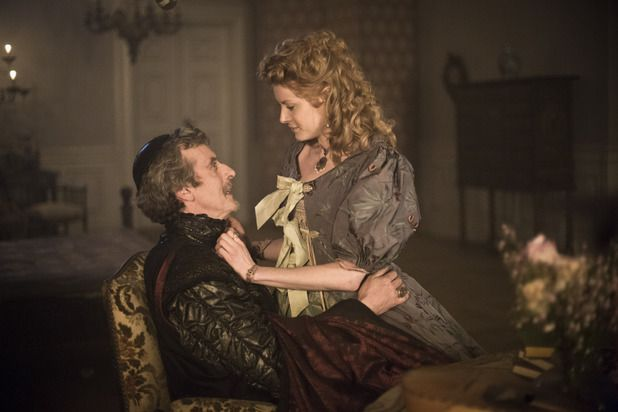 Peter Capaldi as Cardinal Richelieu & Emily Beecham as Adele Bessette. 1x1 Friends and Enemies. The Musketeers.