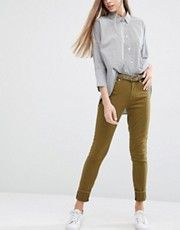 Зауженные джинсы цвета хаки PS by Paul Smith