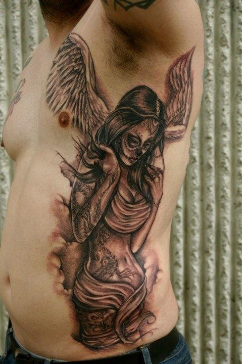 ~Angel Sugar Skull~ | Tattoo ideas | Pinterest