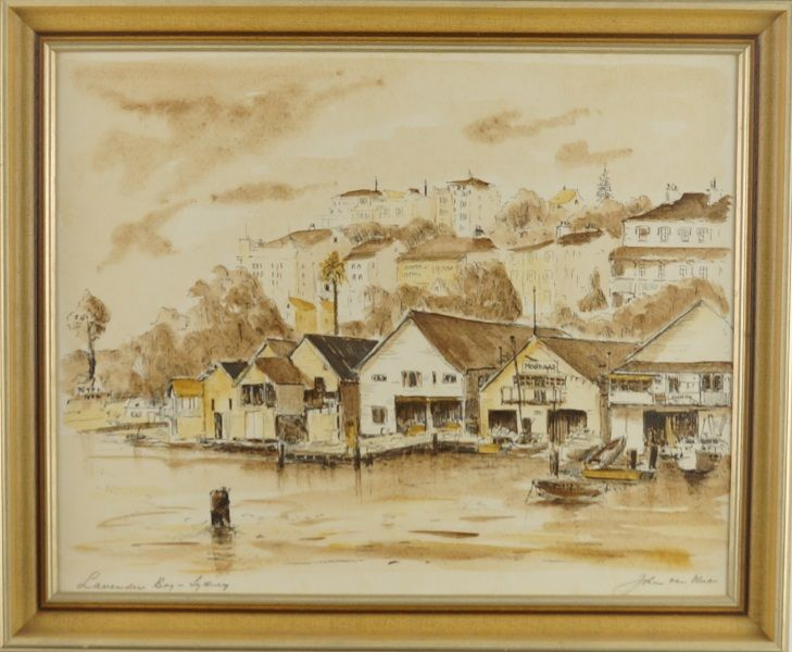JOHN VAN VLIET  Decorative Print Title: Lavender Bay Size: 40cm x 50cm Frame Size: 48cm x 59cm Artwork is Housed in a Timber Frame