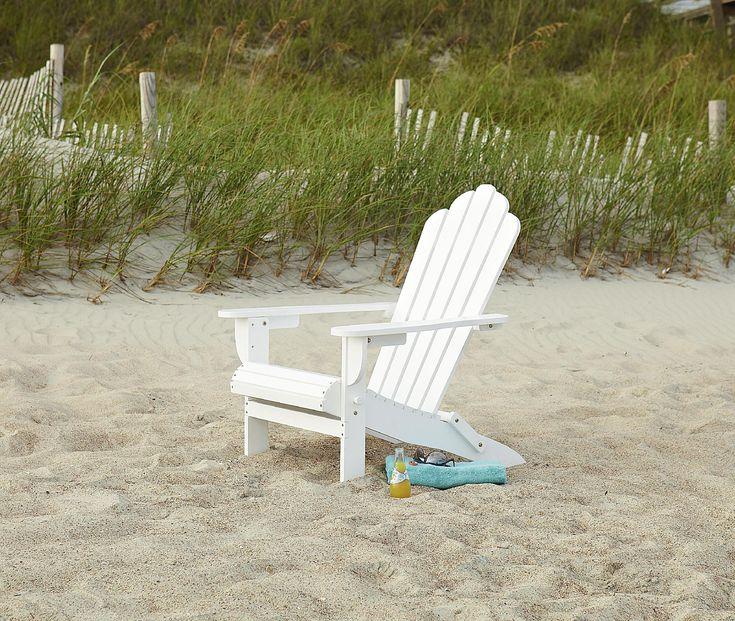 Garden Oasis Adirondack Chair   White   Outdoor Living   Patio Furniture    Adirondack