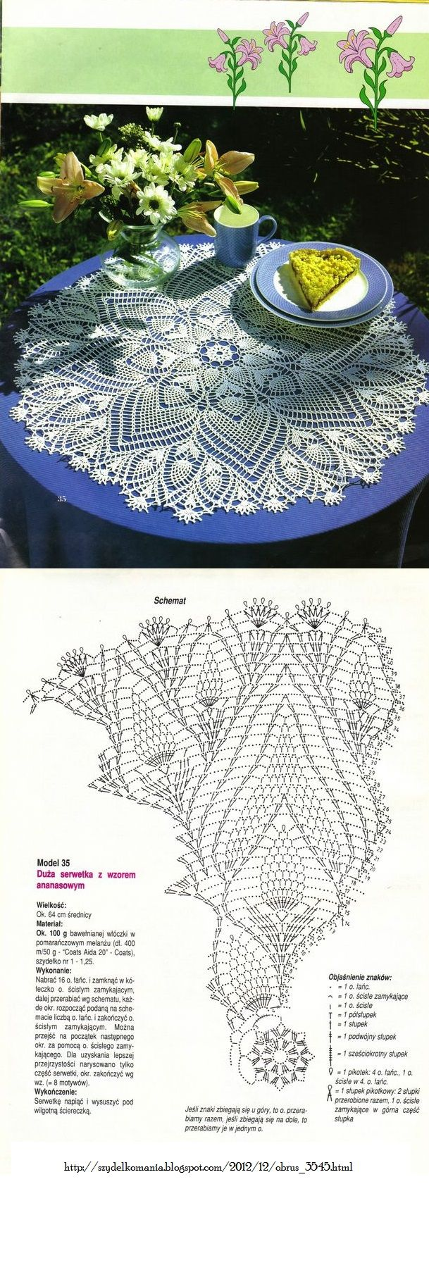96 inch round tablecloth - Find This Pin And More On Crochet Lace Doilies Tablecloths