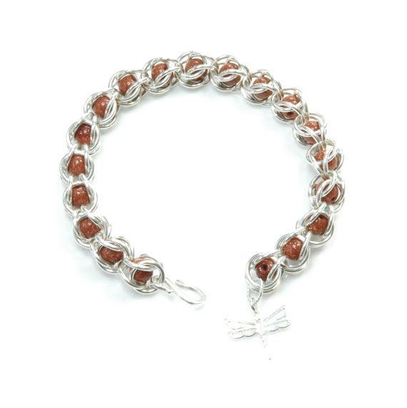 Sterling Silver Captive Chainmaille Bracelet with by FionaKDesigns #handmade