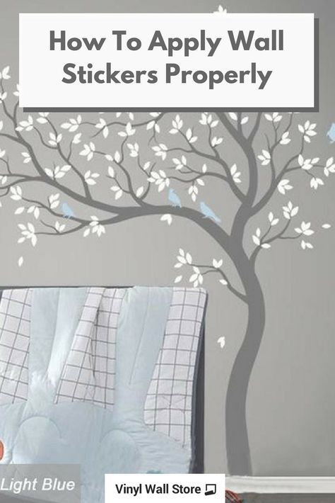 tips on how to apply nursery or baby room wall stickers / decals