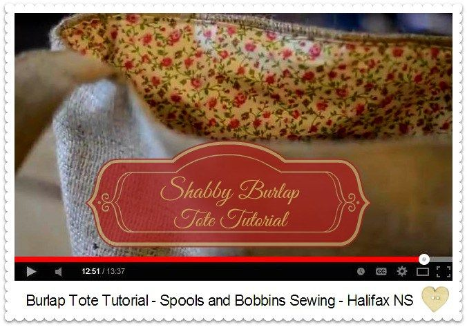Sew a Shabby Chic Burlap Tote - Easy Sewing Project