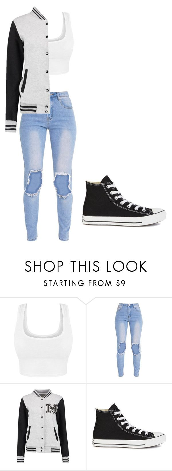 """""""Untitled #291"""" by thenerdyfairy on Polyvore featuring Converse, cute, fashionable and fashionset"""