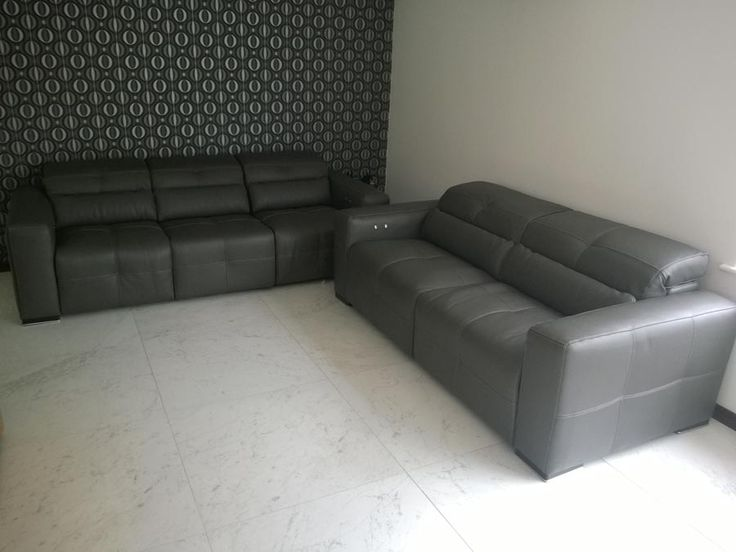 Chesterfield Sofa Milano seater and seater sofa Sofas with electric reclining seats and adjustable headrests