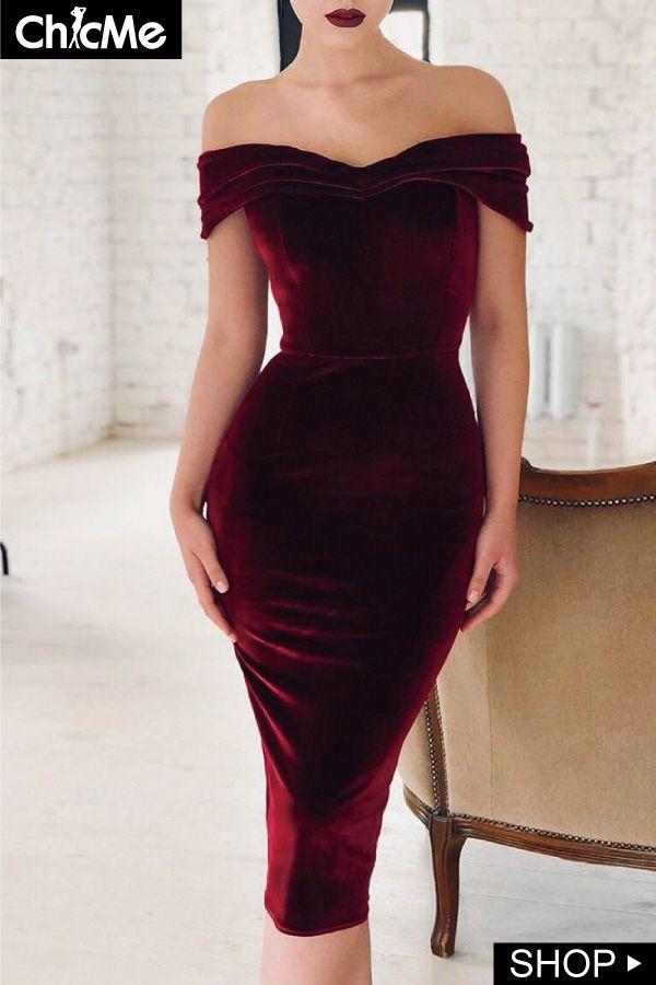 2c7829d2b71 Velvet Off Shoulder Ruched Bodycon Dress