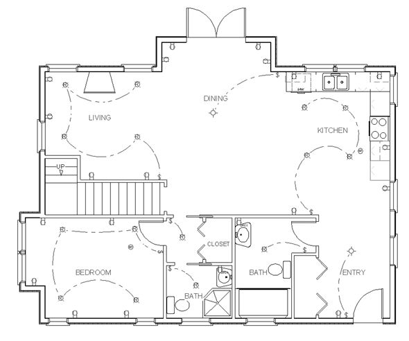 Complete make your own blueprint tutorial for those designing their own homes. This process can be used for drafting construction drawings by hand or using home design software.