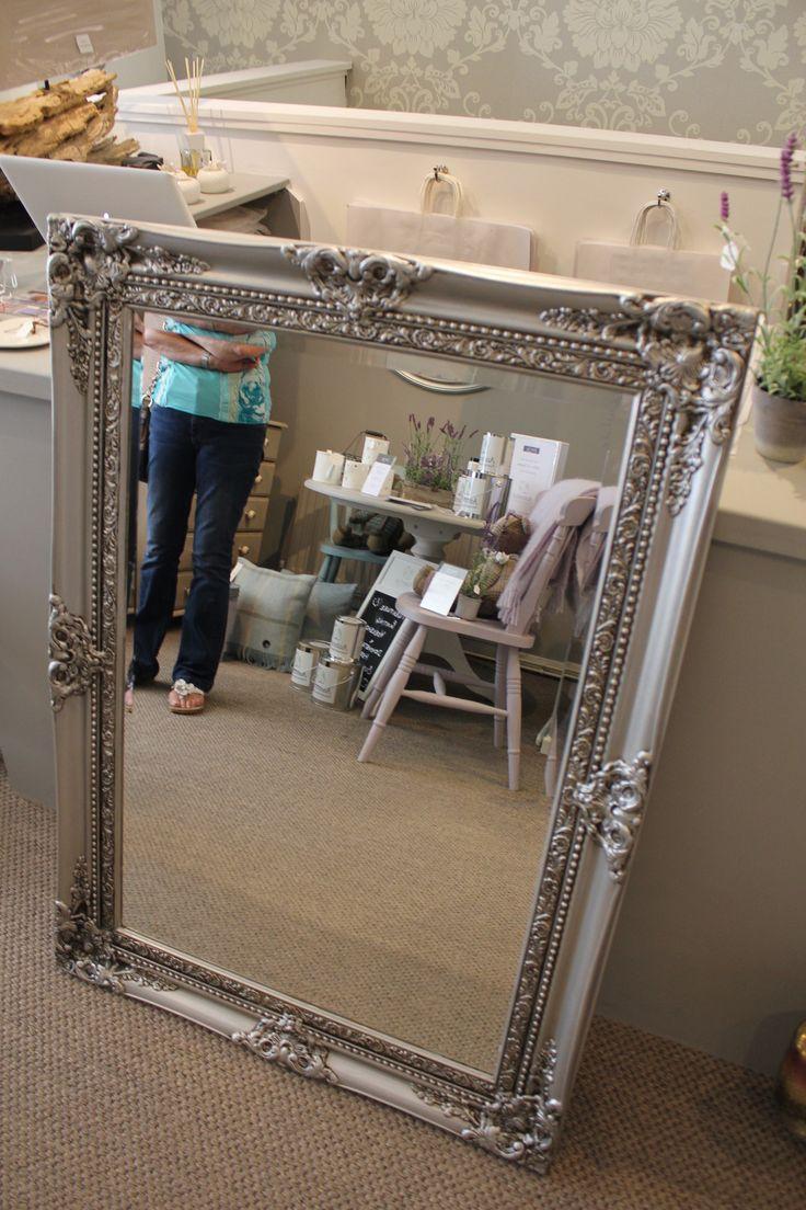 Espejo pintado con la nueva pintura met lica de autentico - Muebles pintados en plata ...
