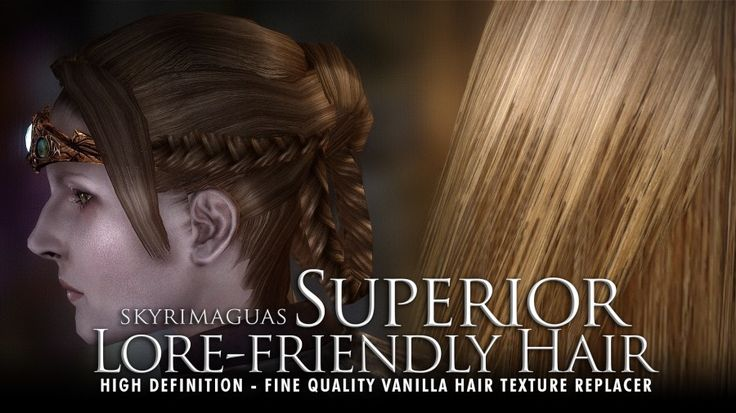 Superior Lore-Friendly Hair - HD textures at Skyrim Nexus - mods and community