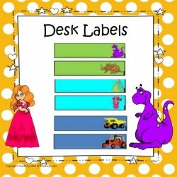 Desk Labels
