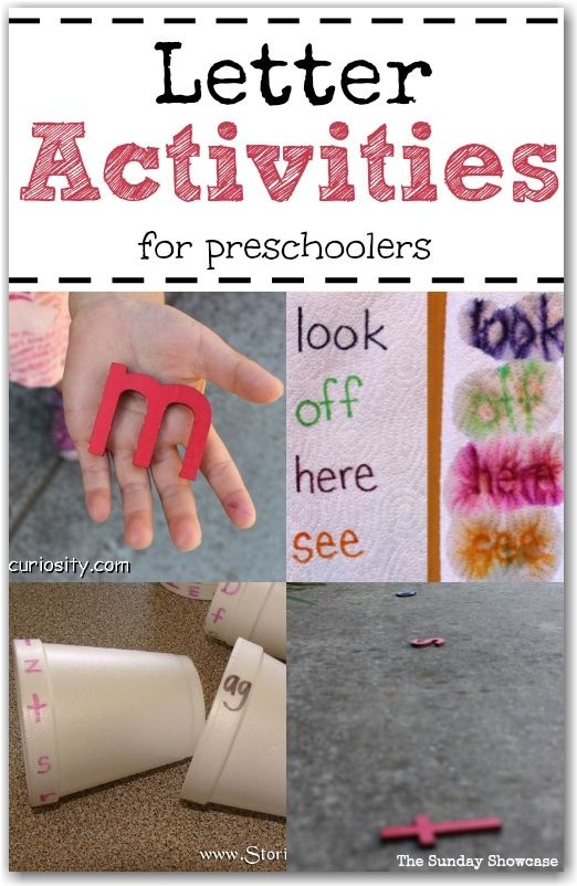 A selection of fun ideas for learning letters