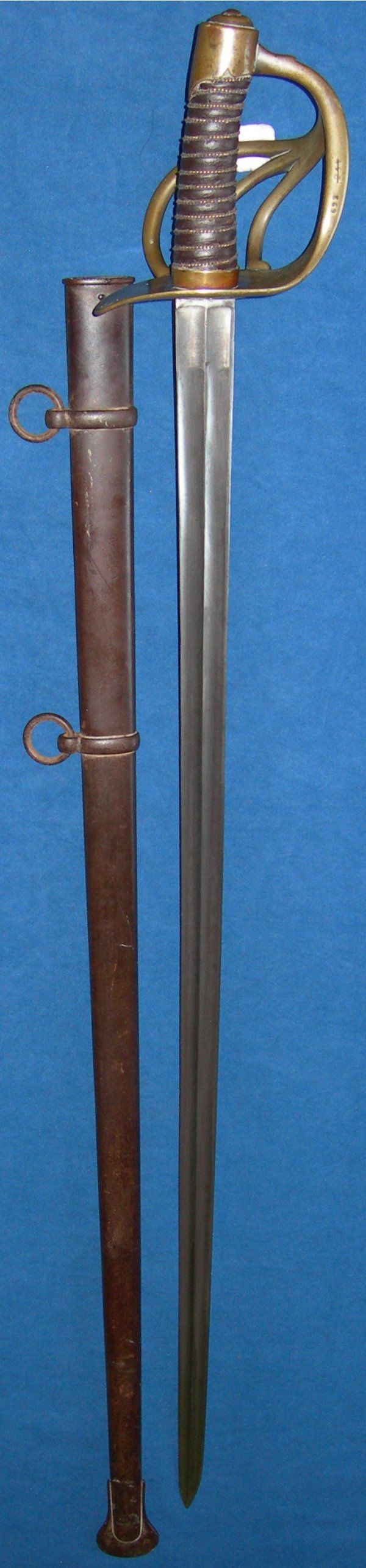Battle of Waterloo trophy, French Heavy Cavalry Trooper's Sword, Klingenthal, dated 1813