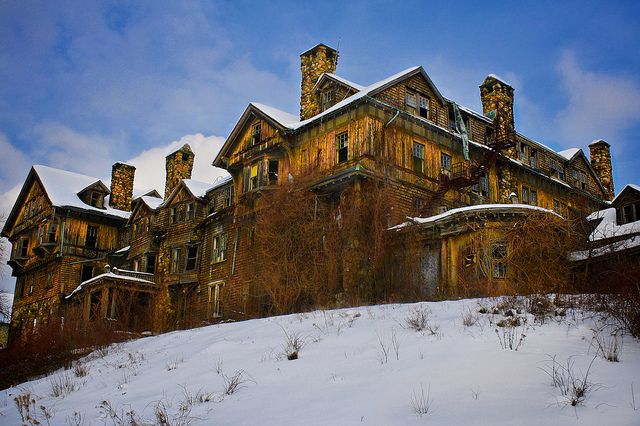 Haunted by Memories, This abandoned place was built as a luxury hotel and changed to a  college around the turn of the century. it was closed in 1978 and is  set to be destroyed later this year. I'm sure it is full of memories.  (