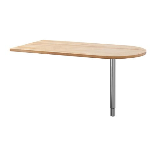 """IKEA - GERTON, Table, , Solid wood is a durable natural material.You can choose the height of your work surface, between 26 3/8-42 1/8"""", with the height adjustable legs.Pre-drilled leg holes for easy assembly.Mount your table top to the wall with the included wall fixture."""