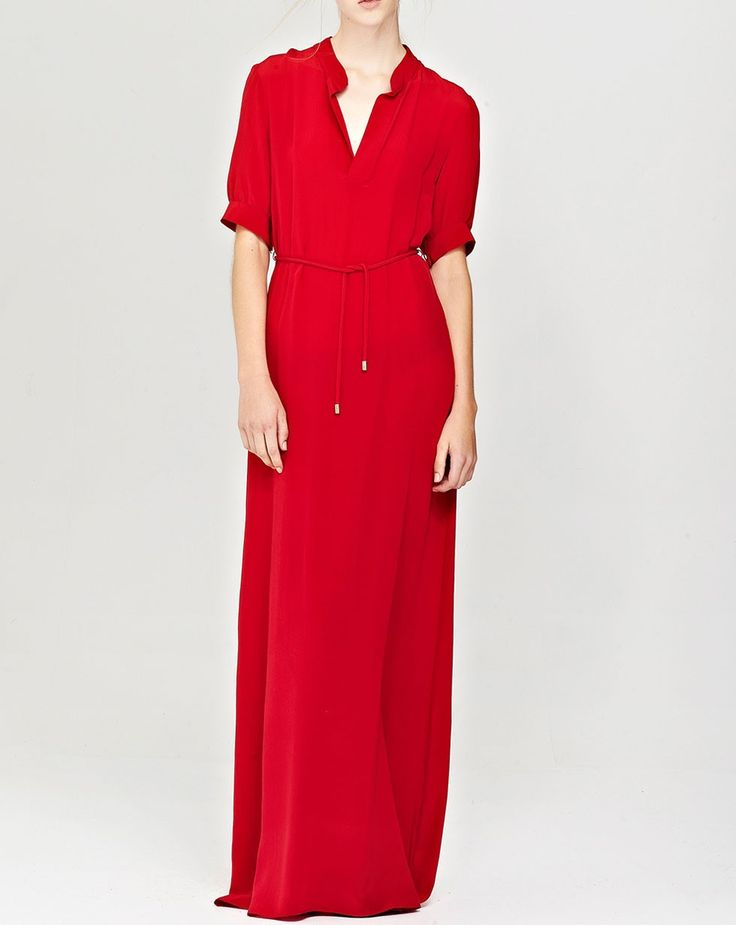 Kate Sylvester, pure silk, Ruby Maxi