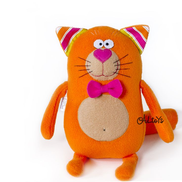 Котик рыжий пузатик в бабочке (на заказ)
