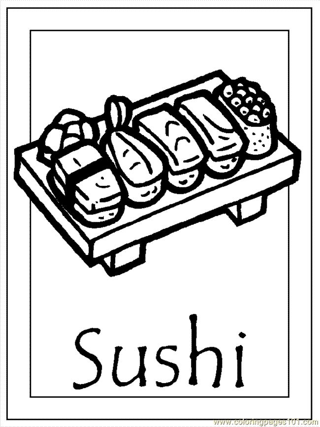 Japan 005 sushi coloring pages