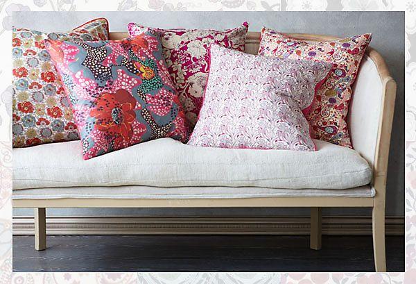 White Sofa Liberty pillows