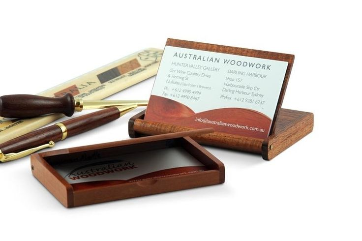These beautifully finished business card holders come in either Tasmanian Blackwood or Tasmanian Myrtle and are a most versatile design in that they can be used as an elegant case for carrying business cards or a desk top display for them, simply by flipping the top open and around. In this form the business card case becomes an attractive and sturdy holder for cards which are easily accessible. They make an ideal gift for anyone with a business card to display or distribute.  MEASUREMENTS…