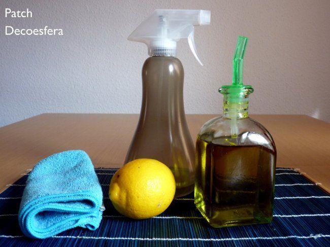 Ingredientes para hacer un abrillantador de muebles casero