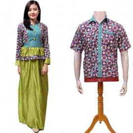 Batik Couple Gamis Panjang Hijau
