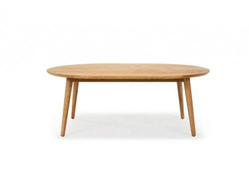 Hugo, Coffee table, Solid oak veneer top, Oval