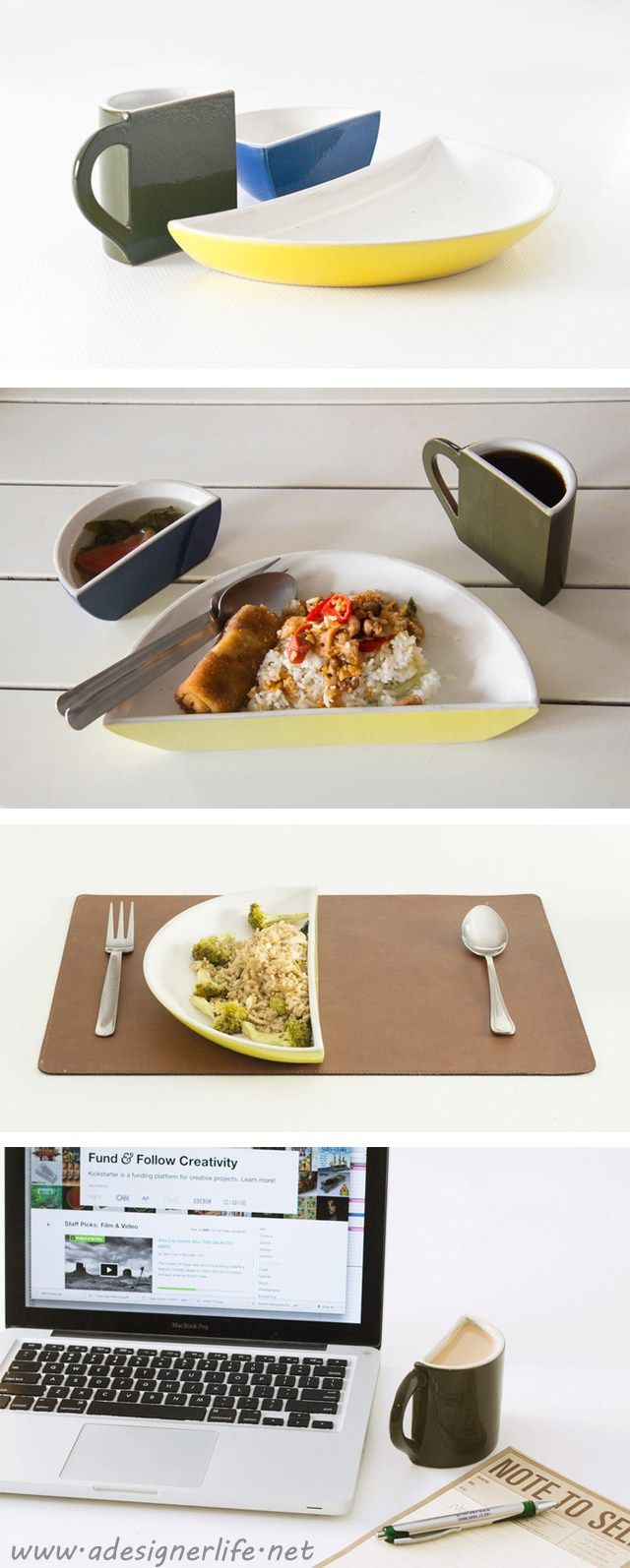 HALVED Dinnerware - portion controlled weight loss table ware