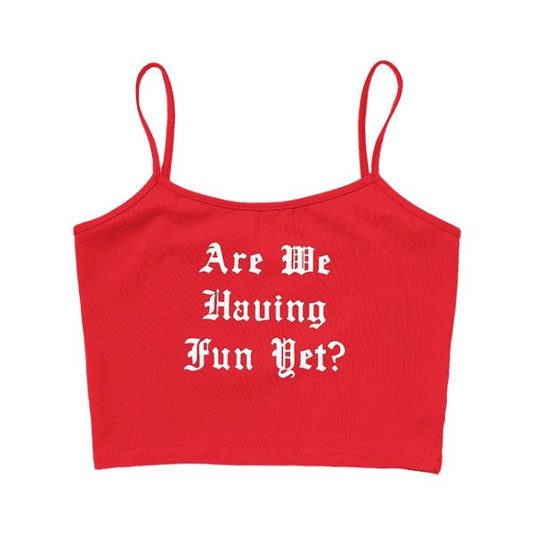 Shop for Letter Print Crop Cami Top RED: Tank Tops M at ZAFUL. Only $12.49 and free shipping!
