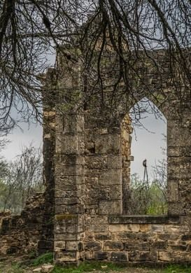 Ruins of St Dominic's Catholic Church  On a dusty county road sit the ruins of a ghost town's abandoned church.  (48min from San Antonio)