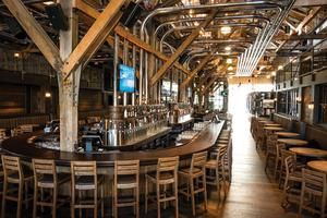 CRAFT Beer Market is a premium casual restaurant located in the historic Salt Building in the heart of Olympic Village.    #Vancouver #Restaurants