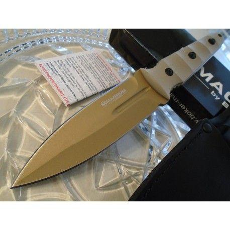 Couteau De Combat Dague Boker Magnum Desert Booster Acier 440 Manche G-10 Etui Cuir 02LG284 - Livraison Gratuite