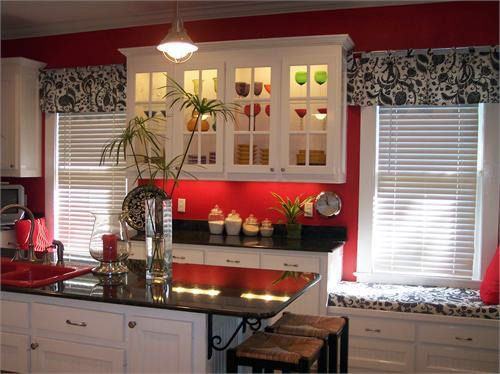 Vintage Kitchen With Red Painting ~ http://lanewstalk.com/beauty-of-vintage-kitchen/