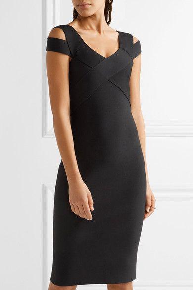 Black stretch-knit Zip fastening through back 81% viscose, 17% polyamide, 2% elastane Dry clean Made in the UK