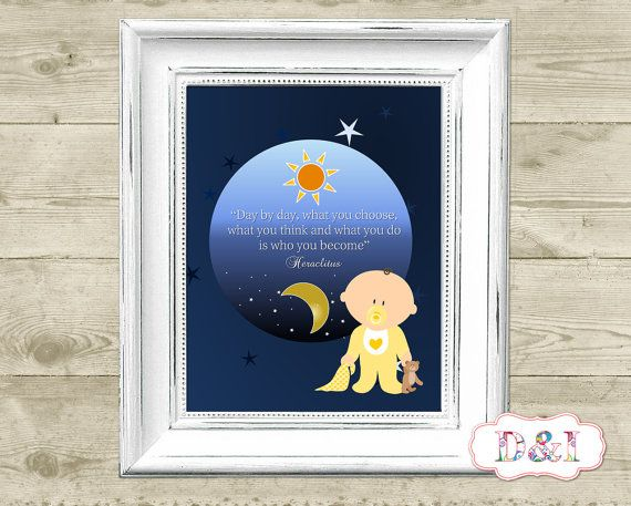 Moon - Wall Art Print ~ Instant download, JPG PDF Printable