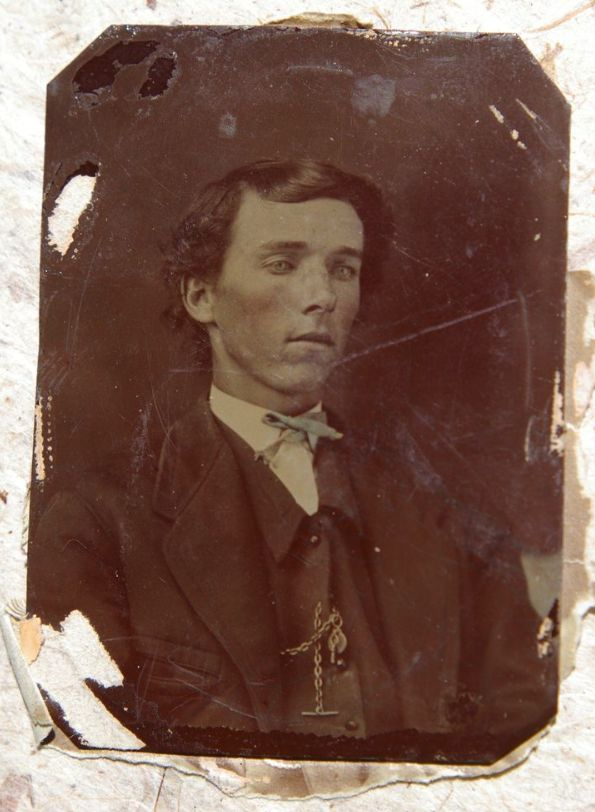 This photograph, from the collection of Sally Chisum, is thought to be a picture of Billy the Kid.